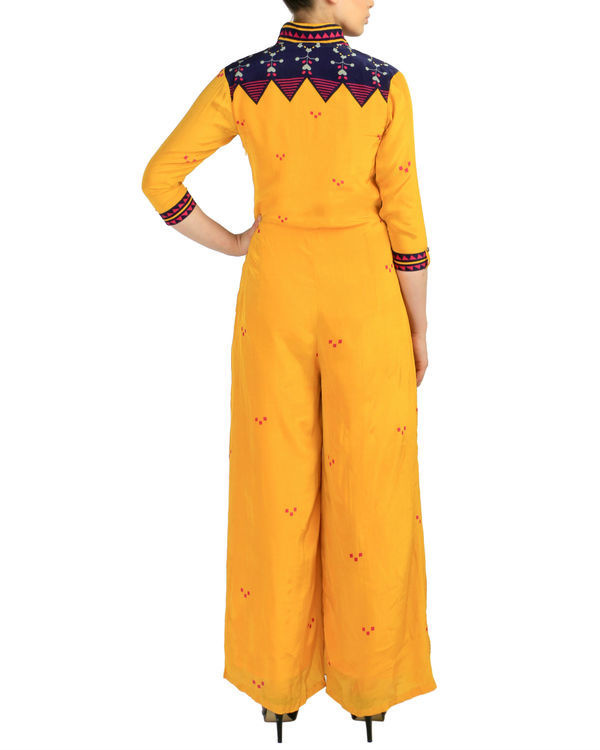 Yellow crossover jumpsuit 2