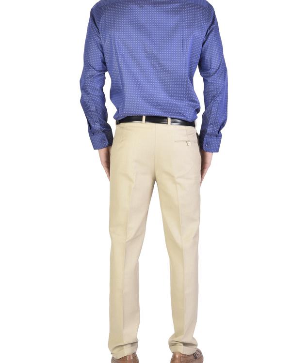 Navy blue Shirt with motif 1