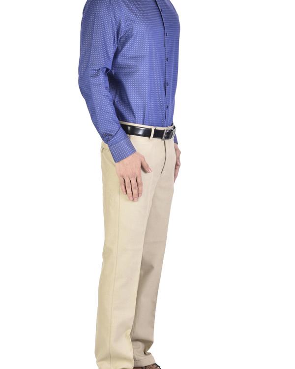 Navy blue Shirt with motif 2