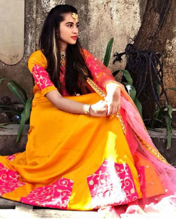 Desi cage dress with dupatta 1