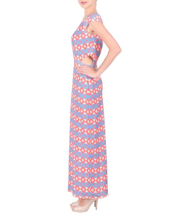 Moss crepe long ankle length dress 3