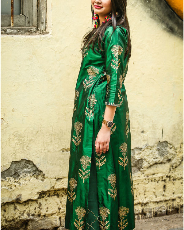 Emerald floral kurta set 2