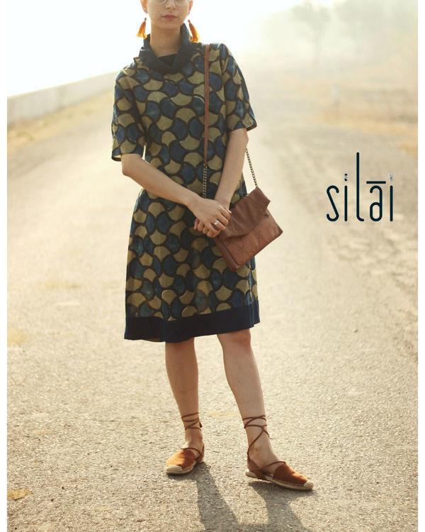 Cowl neck ajrakh dress 2