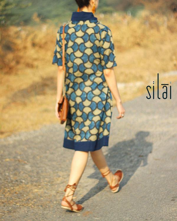 Cowl neck ajrakh dress 3