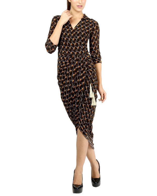 Black dhoti dress 1