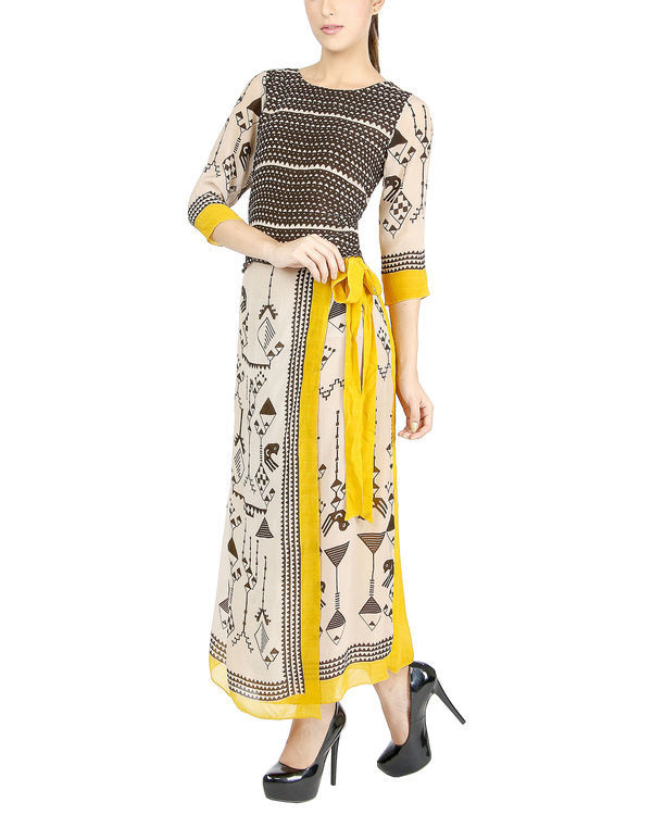 Egyptian print dress 1