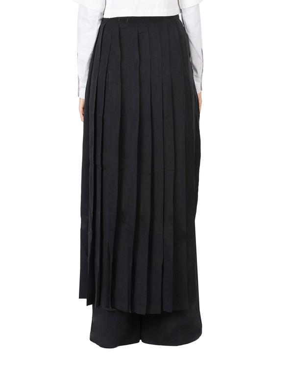 Black pleated wrap skirt 2
