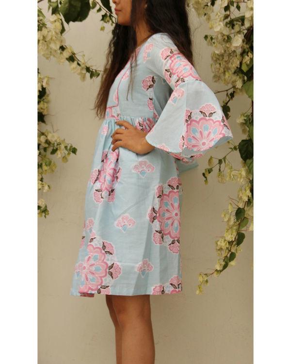 Floral umbrella sleeve dress 1