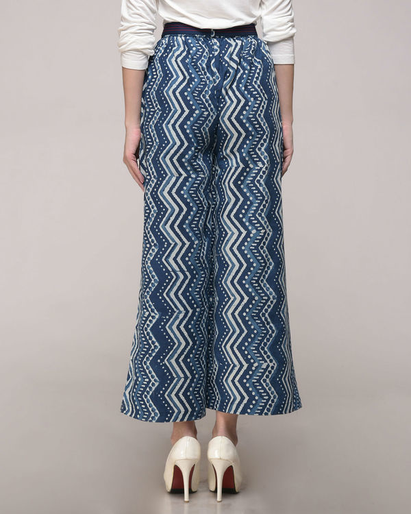 Dabu printed chevron palazzos with belt 3