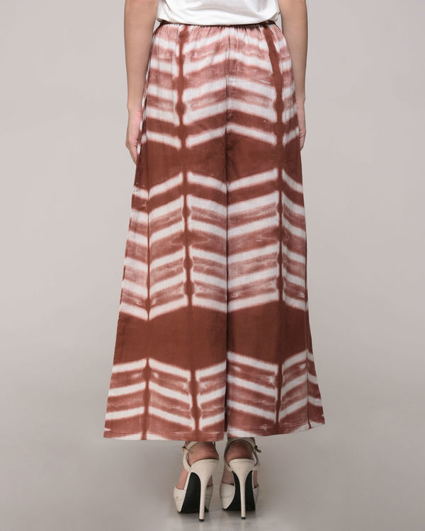 Clamp dyed brown palazzos 2