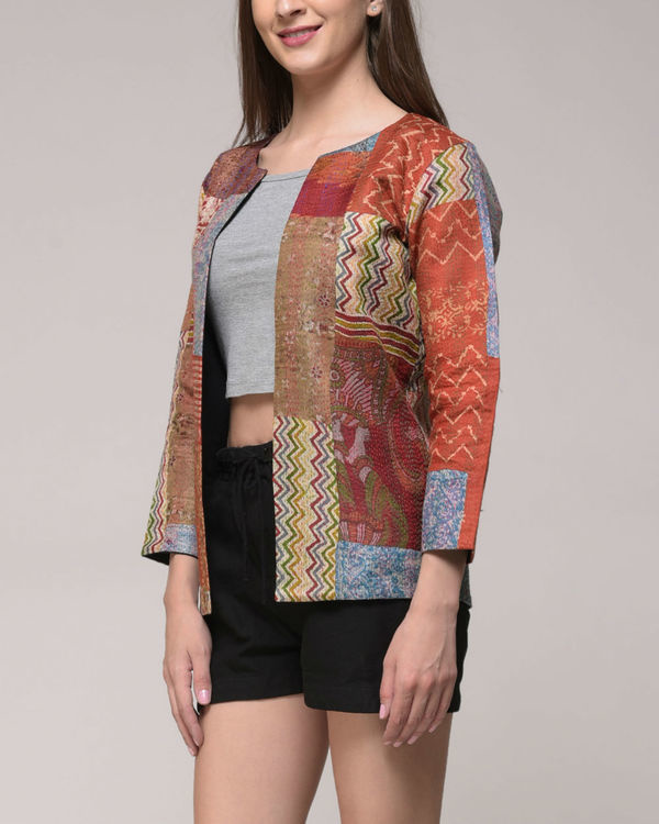 Vintage silk kantha jacket 1