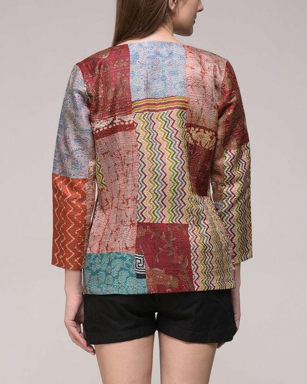 Vintage silk kantha jacket 3