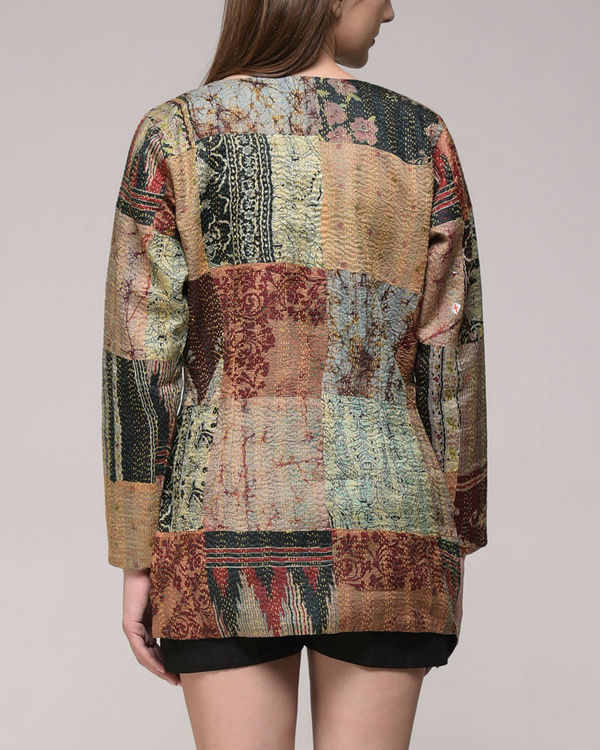 Patched kantha jacket 2