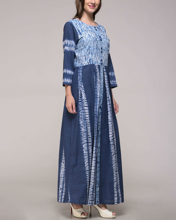 Shibori pleated dress 1