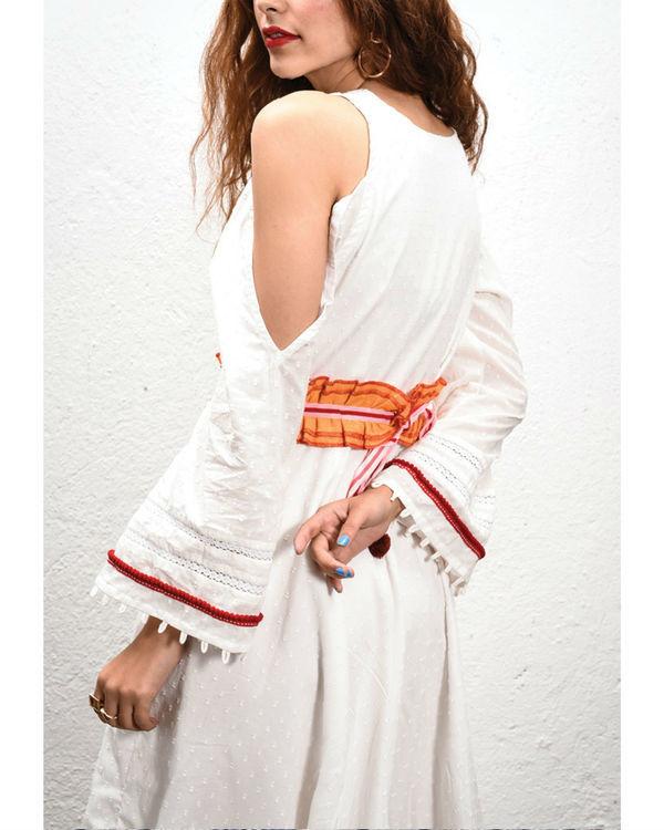 Ivory cut out dress 1