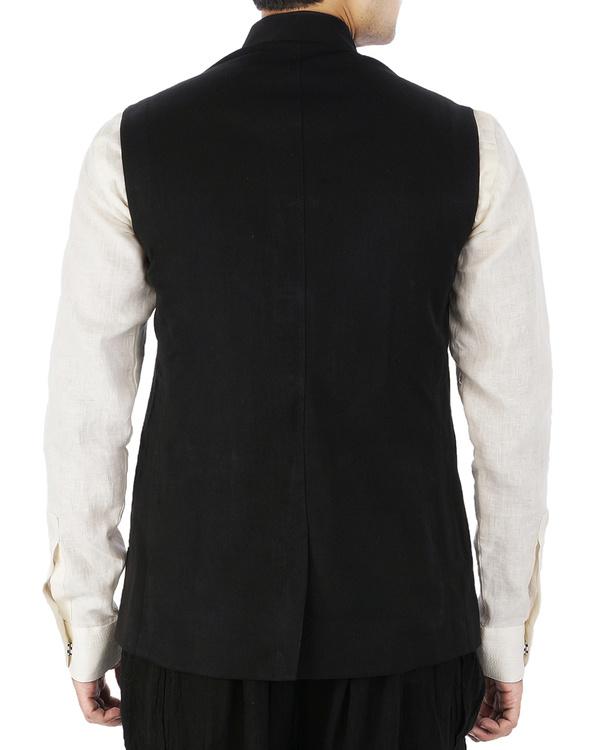 Black sleeveless jacket 1