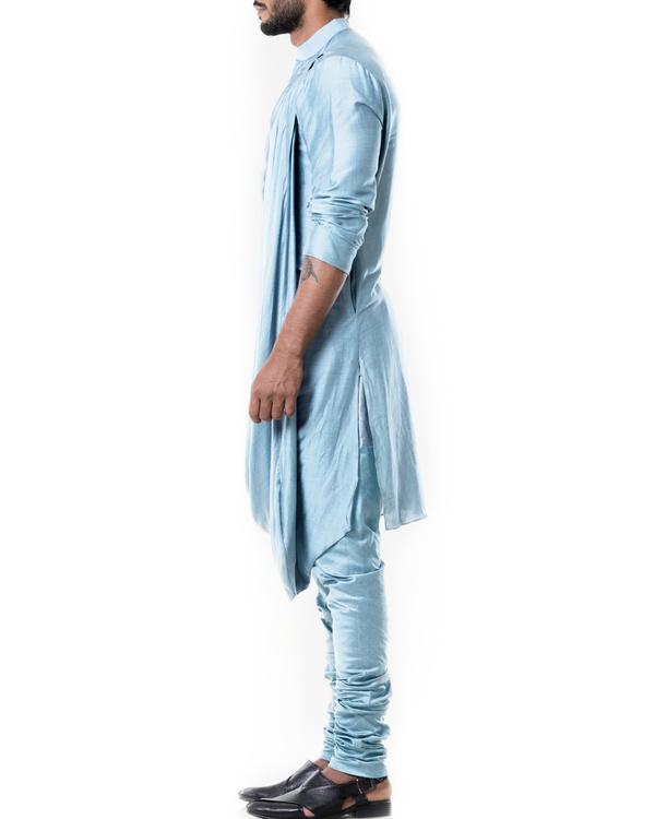 Baby blue cowl kurta set 2