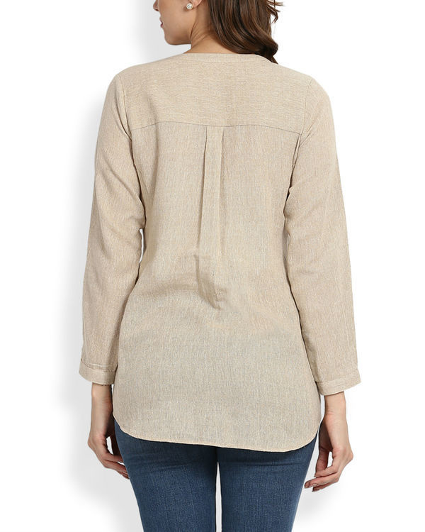 Beige embroidered top 2