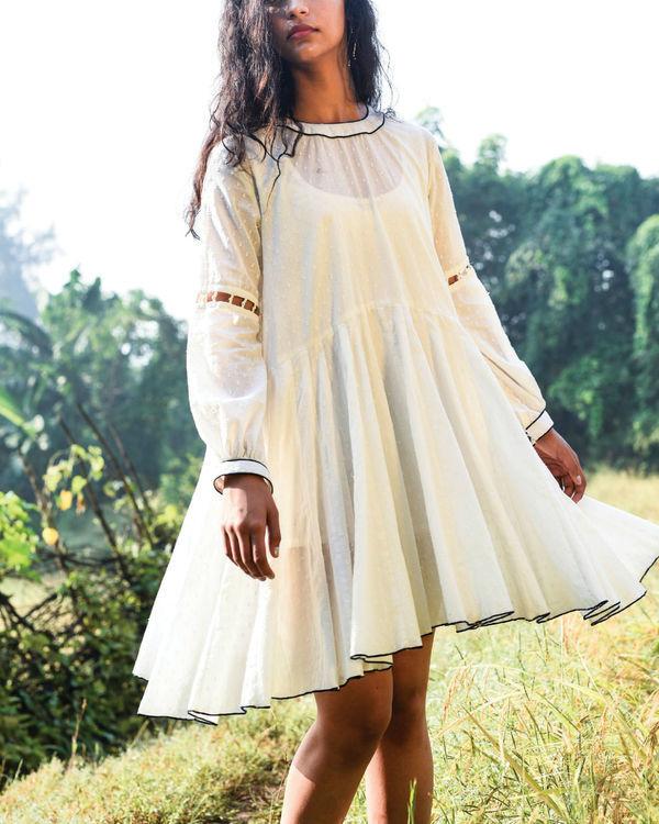 Ivory dago flared dress 1