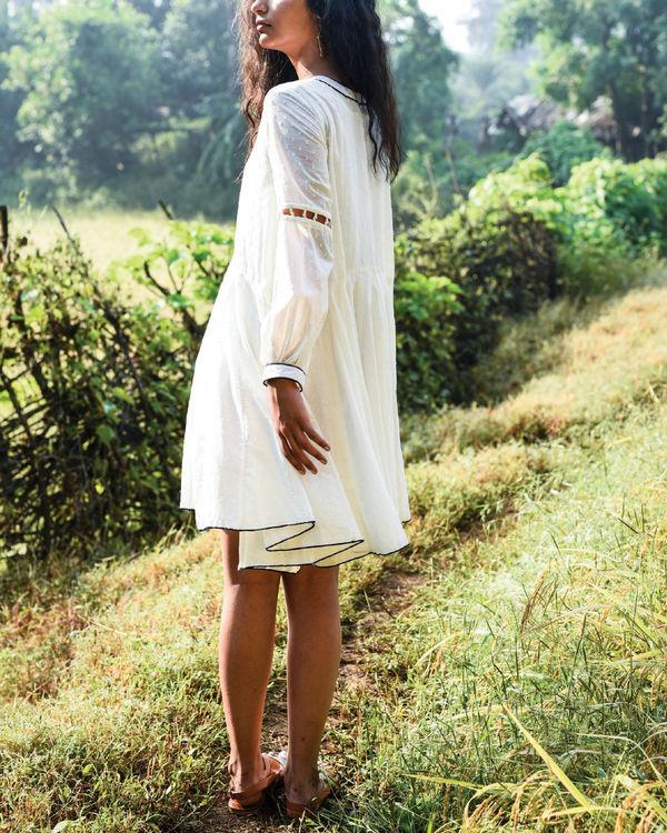Ivory dago flared dress 3