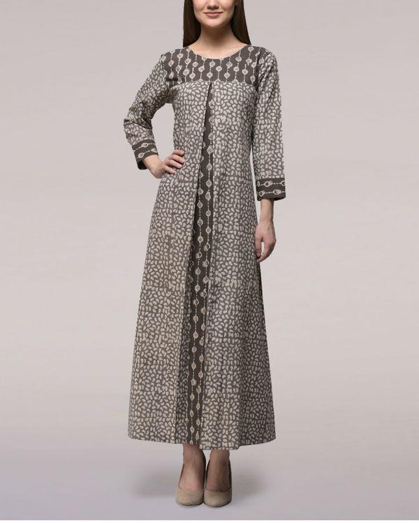 Ash black dabu cotton dress 2