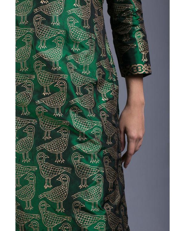 Peridot kabutar printed kurta set 3