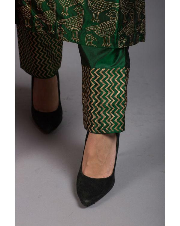Peridot kabutar printed kurta set 4