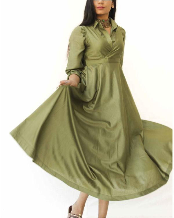 Olive green magical walk dress 2