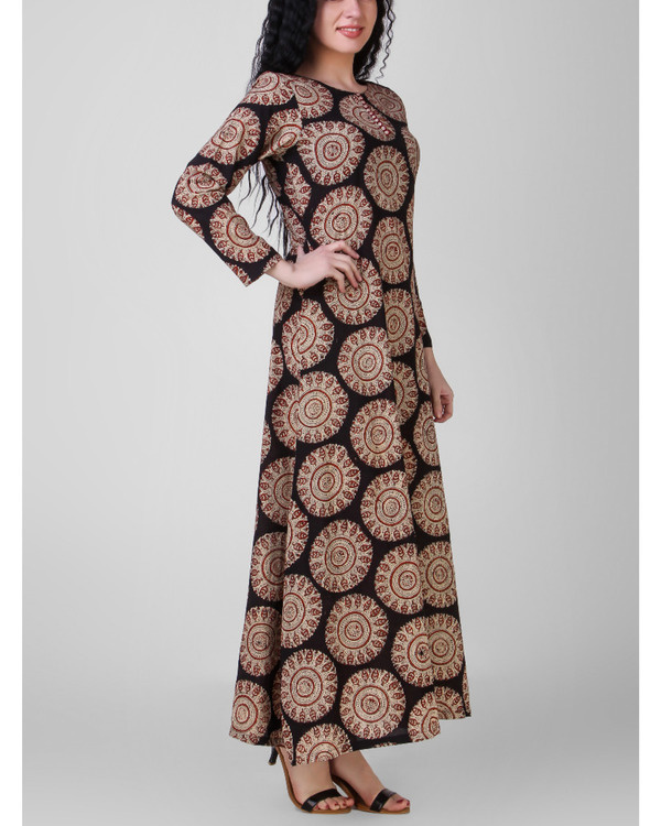 Overall block-printed cotton dress 1