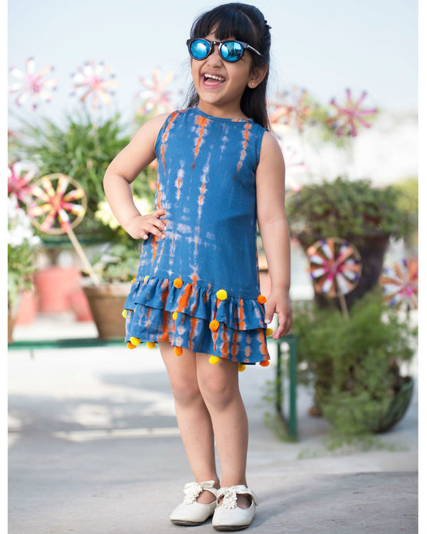 Tie and dye rayon dress 1