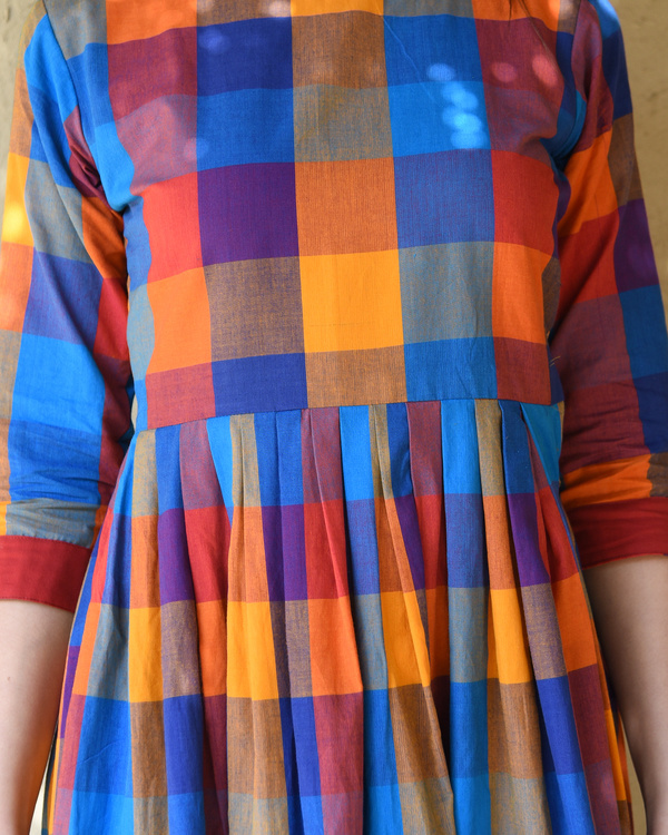 Multicolor checks dress 3