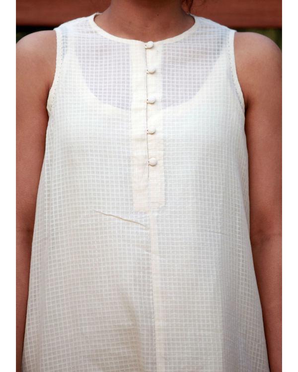 Cotton dobby checkered tunic 3