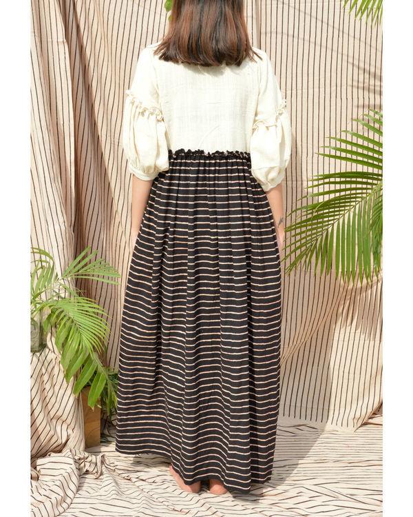 White & black cotton dress 1