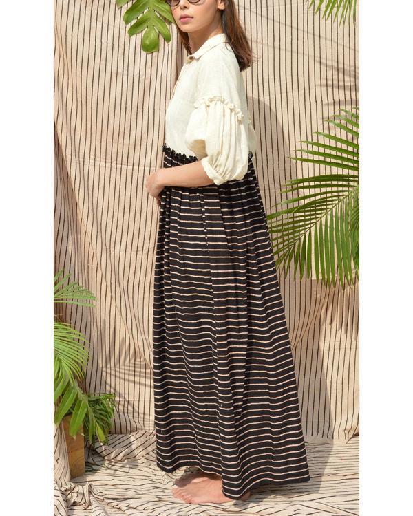 White & black cotton dress 2