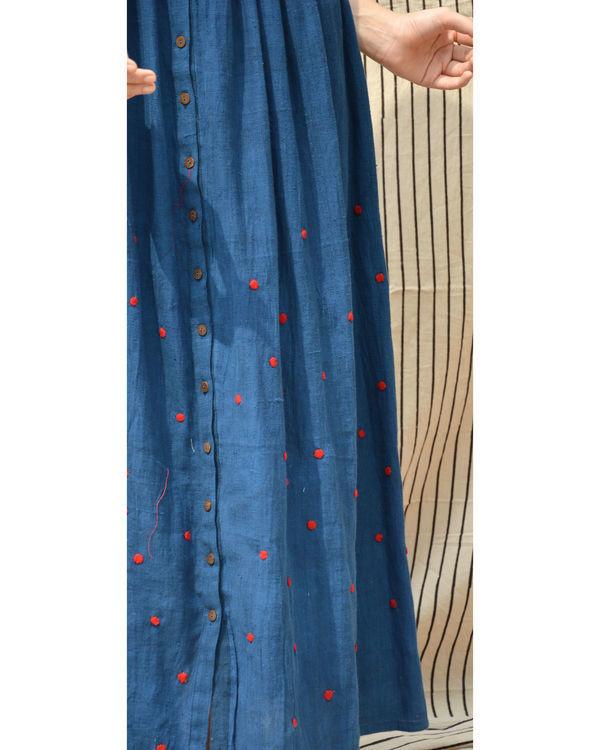 Indigo polka dot  dress 3